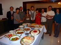 大使公邸にて食事会